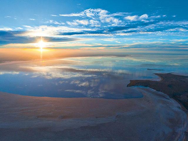 Ejr, tri u jednom; jezero, pustinja i slana ravnica