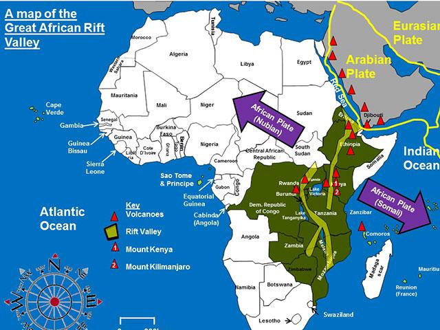 Istočnoafrički rov, kičma Afrike
