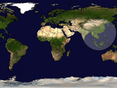 Da li znate šta predstavlja krug na ovoj mapi?